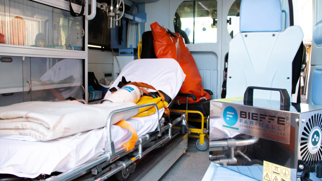 disinfezione ambulanze