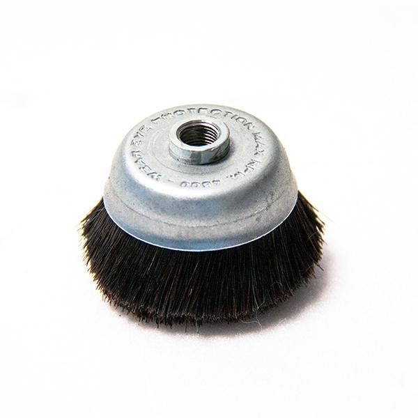 SPAZZOLINO D60MM SETOLE CRINE 1/8F ricambio pulizia vapore